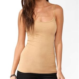 Forever 21 Nude/Beige Basic Tank Top